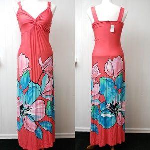 Neiman Marcus Floral Maxi Dress Sz S NWT!
